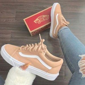 peach color shoes